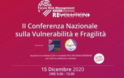 II CONFERENZA NAZIONALE SULLA VULNERABILITA' E FRAGILITA'